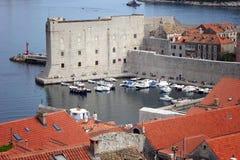 Dubrovnik röda tak Royaltyfri Bild