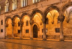 Dubrovnik Rectors Palace night Royalty Free Stock Image