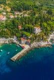Dubrovnik riviera - Arboretum Trsteno Stock Image