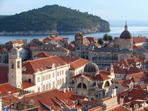 Dubrovnik roofs. Dubrovnik center sight  from city wall Royalty Free Stock Photos