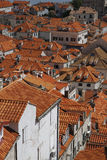 Dubrovnik roofs. View of Dubrovnik old town Stock Image