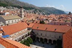 Dubrovnik-roofsOld Stadt von Dubrovnik, Kroatien Balkan, adriatisches Meer, Europa Lizenzfreie Stockbilder