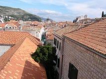 dubrovnik rooftops arkivfoton