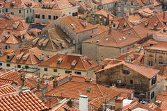 Dubrovnik rooftops with orange tiles Royalty Free Stock Image