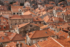 Dubrovnik rooftops. Rooftoops of historic dubrovnik, croatia from the city walls royalty free stock image