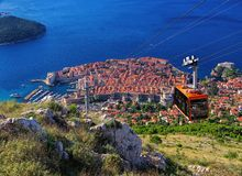 Dubrovnik ropeway Royalty Free Stock Photo