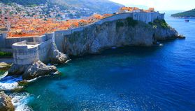 Dubrovnik, sławny turystyczny miejsce przeznaczenia w Chorwacja zdjęcia stock