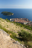 Dubrovnik's Old Town and Lokrum Island from above Stock Photography
