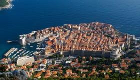 Dubrovnik` s oude stad, Kroatië stock afbeelding