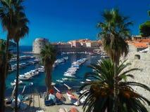Dubrovnik ` s Stary Grodzki schronienie obraz stock