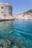 Dubrovnik scenic view of the city`s buildings Stock Images