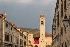 Dubrovnik scenic view of the city`s buildings Stock Photography