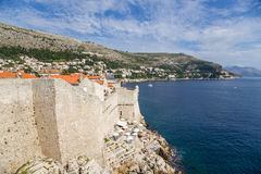 Dubrovnik. Sea and fortress Royalty Free Stock Images