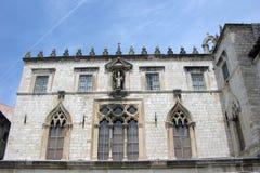 Dubrovnik slottfasad Arkivbild