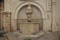 Dubrovnik - Small Onofrio Fountain, Croatia Royalty Free Stock Images