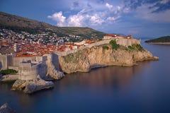 Dubrovnik solnedgång Royaltyfri Foto