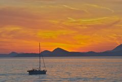 Dubrovnik-Sonnenuntergang Lizenzfreies Stockbild
