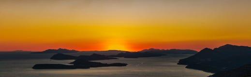 Dubrovnik-Sonnenuntergang VII Stockfotos