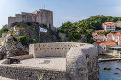 Dubrovnik. St. Lawrence Fortress and walls of old town Stock Photo