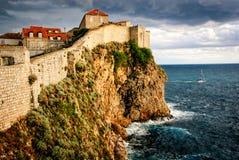 Dubrovnik stadsvägg Royaltyfri Bild