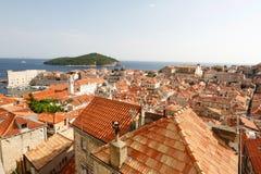 Dubrovnik-Stadt in Kroatien Stockfotografie