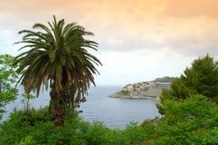 Dubrovnik-Stadtküste Stockfotos