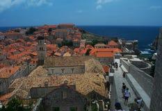 Dubrovnik-Stadtmauern Stockfoto