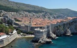 Dubrovnik-Stadtmauern Stockbild