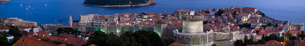Dubrovnik-Stadtwände stockbilder