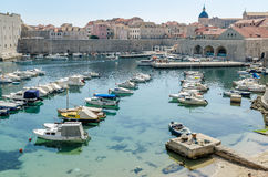 Dubrovnik stary grodzki molo Obrazy Royalty Free