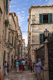 Dubrovnik. Street in old town Royalty Free Stock Photos