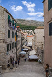 Dubrovnik. Street of old town Royalty Free Stock Photos