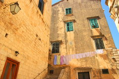 Dubrovnik street view stock photography