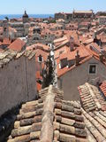 Dubrovnik Streets. An aerial view of the Croatian city of Dubrovnik taken in June 2009 royalty free stock photography