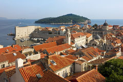 Dubrovnik Sunny Afternoon Panoramic View with The Harbor Stock Photos