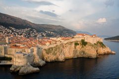 Dubrovnik At Sunset Stock Photo