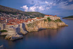 Dubrovnik sunset Royalty Free Stock Photo