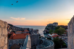 Dubrovnik sunset Royalty Free Stock Photography