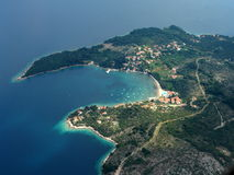 Dubrovnik. TAKEN AT 2000FT AT APPROACH FOR DUBROVNIK AIRPORT stock images