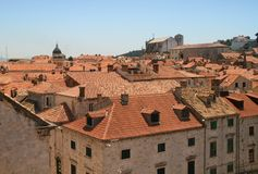 Dubrovnik tiled roofs. Croatia Royalty Free Stock Photos