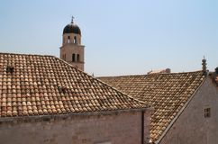 Dubrovnik tiled roofs. Croatia Royalty Free Stock Images