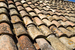 Dubrovnik Tiles. A perspective on the original tiles that covered the houses of Dubrovnik before the war stock images