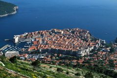 Dubrovnik top view Royalty Free Stock Photos