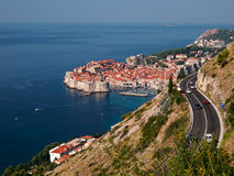 Dubrovnik town from above Stock Images