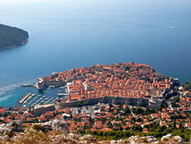 Dubrovnik town from above Royalty Free Stock Photos