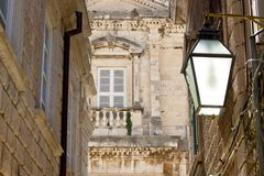 Dubrovnik - typical street. Royalty Free Stock Photos