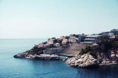 Dubrovnik und adriatisches Meer Stockfotos
