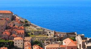 Dubrovnik und adriatisches Meer Stockfoto