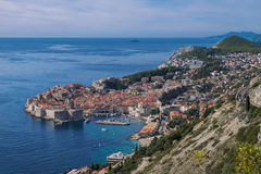 Dubrovnik und Panorama lizenzfreies stockfoto