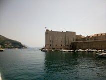 Dubrovnik väggar arkivfoton